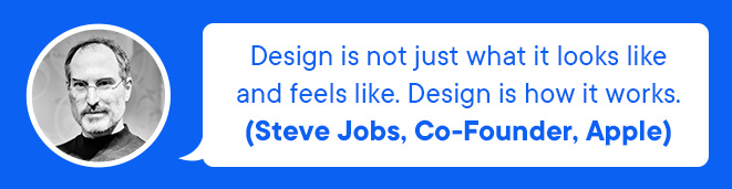 Steve Jobes quote about design